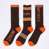 24 Units of 1pr Crew Socks-3 Styles [CLEVELAND] 10-13 B/O - Mens Crew Socks