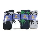 24 Units of Crew Socks 10-13 [Marijuana Leaves] - Mens Crew Socks