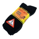 24 Units of Heavy Duty Work Socks 10-13 [BLK/GRY/NVY] - Mens Crew Socks