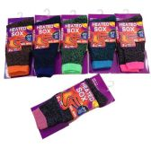 24 Units of Women's Thermal Sock Size 9-11 - Womens Thermal Socks