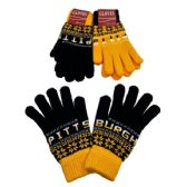 24 Units of Pittsburgh Knitted Glove - Knitted Stretch Gloves
