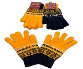 24 Units of West Virginia Knitted Glove In Small - Knitted Stretch Gloves