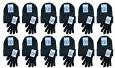 480 Units of Yacht & Smith Womens Warm Winter Sets 240 Pairs Of Gloves And 240 Hats Solid Black - Winter Care Sets