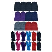 288 Units of Yacht & Smith Women's Winter Care Set, Fleece Gloves And Winter Beanie Set - Winter Care Sets