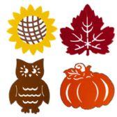 72 Units of Hanging Decor Felt Diecut - Halloween & Thanksgiving