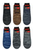 216 Units of MEN'S KNITTED FOOT COVER - Mens Ankle Sock