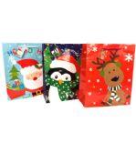 144 Units of Christmas Large Gift Bag - Christmas Gift Bags and Boxes