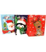 192 Units of Christmas Medium Gift Bag - Christmas Gift Bags and Boxes