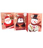 144 Units of Large Glossy Christmas Gift Bag - Christmas Gift Bags and Boxes