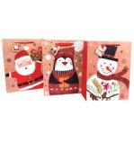 192 Units of Medium Glossy Christmas Gift Bag - Christmas Gift Bags and Boxes