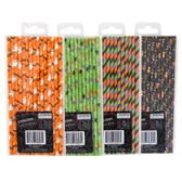 96 Units of 15ct Halloween Paper Straws - Straws and Stirrers