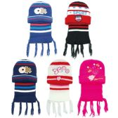 72 Units of Children's Hat and Scarf Set - Winter Sets Scarves , Hats & Gloves