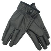 72 Units of Men's Faux Leather Insulated Glove - Leather Gloves