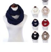 24 Units of Womens Acrylic Winter Scarf Crochet Knit Tube Scarf Assorted Color - Winter Scarves
