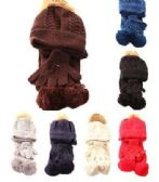 36 Units of Kids Winter Scarf Hat & Glove Set Cable Knit - Winter Sets Scarves , Hats & Gloves
