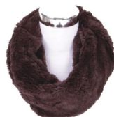 60 Units of Women's Plush Infinity Scarf - Winter Scarves