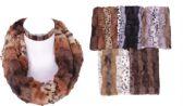 72 Units of Women's Plush Animal Print Winter Infinity Scarf - Winter Scarves