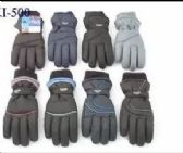 12 Units of MENS WINTER SKI GLOVES WITH THINSULATE - Ski Gloves