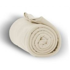24 Units of Fleece Blankets/Throw -CREAM
