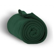 24 Units of Fleece Blankets/Throw -Forest Green