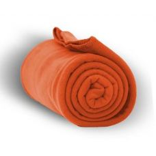 24 Units of Fleece Blankets/Throw - Orange