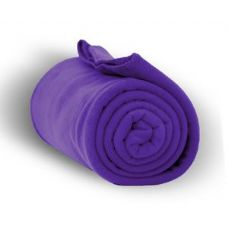 24 Units of Fleece Blankets/Throw - Purple
