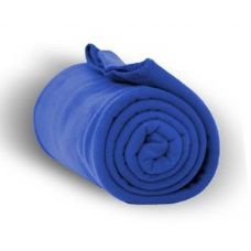 24 Units of Fleece Blankets/Throw - Royal - Fleece & Sherpa Blankets