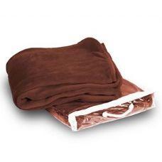 24 Units of Micro Plush Coral Fleece Blanket - Cocoa - Micro Plush Blankets