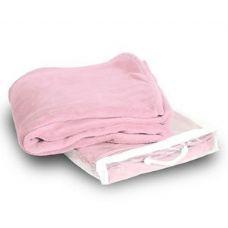 24 Units of Micro Plush Coral Fleece Blanket - Pink - Micro Plush Blankets