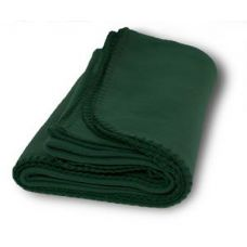36 Units of Promo Fleece Blanket / Throws - Forest Green
