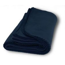36 Units of Promo Fleece Blanket / Throws - Navy