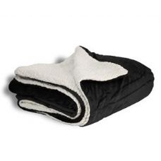 12 Units of Micro Mink Sherpa Blankets - Black - Fleece & Sherpa Blankets
