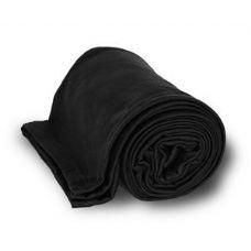 24 Units of Jersey Fleece Throws / Blankets - Black - Fleece & Sherpa Blankets