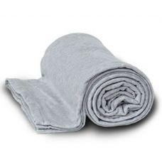 24 Units of Jersey Fleece Throws / Blankets - Gray - Fleece & Sherpa Blankets