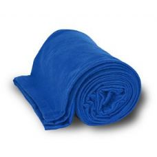 24 Units of Jersey Fleece Throws / Blankets - Royal - Fleece & Sherpa Blankets