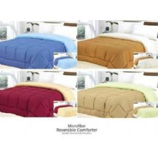18 Units of 1 Pc Microfiber Reversible Comforter - Full SOLID COLOR - Blankets & Bedding