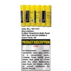 144 Units of Glue Stick - .28 oz  - Bulk packed - Glue Office and School