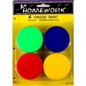 48 Units of Finger Paints - Assorted Colors - 4 pack - Paint/Paint Brushes/Finger Paint