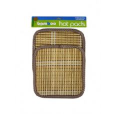 72 Units of Bamboo hot pads - Oven Mits & Pot Holders