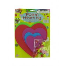 72 Units of Do-it-yourself foam heart craft kit - Craft Kits
