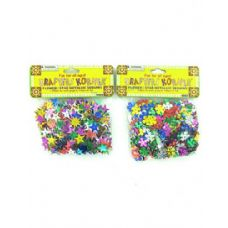 36 Units of flower and star sequins assorted colors (assort may vary)
