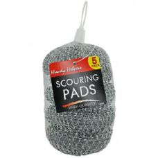 72 Units of 5PK STAINLESS STL SCRUBBR - Scouring Pads/ Scrubbers/ Sponges