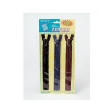72 Units of 3 Pack zippers (assorted colors) - Sewing Kits/ Notions