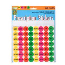 72 Units of 336 Pack prescription stickers