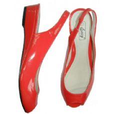 18 Units of Ladies' Open Toe Patent Sandal - Women's Sandals