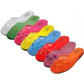 48 Units of Ladies' Pastel Mesh Slippers with Sequins - Womens Slippers