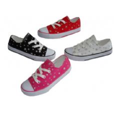 24 Units of Toddler Low-top Printed Canvas shoe - Toddler Footwear