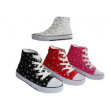 24 Units of Toddler High-Top Printed Canvas Shoe. - Toddler Footwear