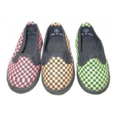 24 Units of Child Checkered Shoe - Toddler Footwear