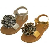 24 Units of Infant's Metallic Sandals - Girls Sandals